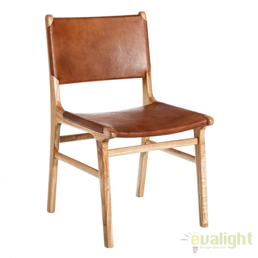 Scaun din lemn de tec design vintage Liz natur DZ-106882, Scaune dining , Corpuri de iluminat, lustre, aplice, veioze, lampadare, plafoniere. Mobilier si decoratiuni, oglinzi, scaune, fotolii. Oferte speciale iluminat interior si exterior. Livram in toata tara.  a