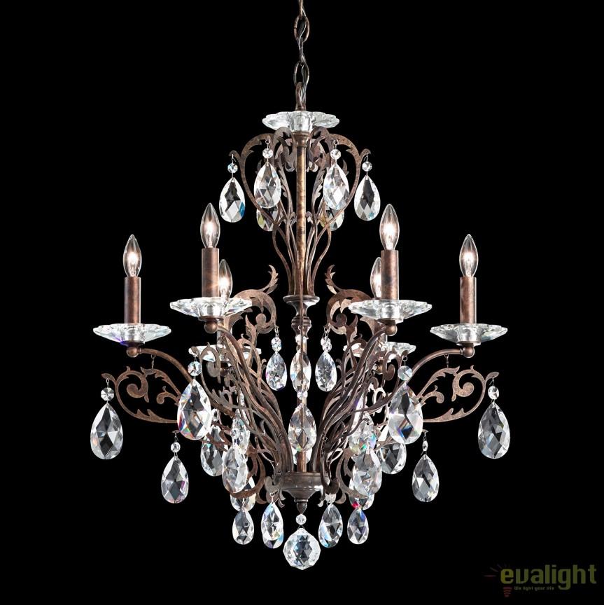 Candelabru design LUX cristal Spectra, Filigrae FE7006, Lustre Cristal Schonbek , Corpuri de iluminat, lustre, aplice, veioze, lampadare, plafoniere. Mobilier si decoratiuni, oglinzi, scaune, fotolii. Oferte speciale iluminat interior si exterior. Livram in toata tara.  a
