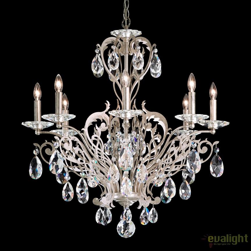 Candelabru design LUX cristal Spectra, Filigrae FE7008, Lustre Cristal Schonbek , Corpuri de iluminat, lustre, aplice, veioze, lampadare, plafoniere. Mobilier si decoratiuni, oglinzi, scaune, fotolii. Oferte speciale iluminat interior si exterior. Livram in toata tara.  a