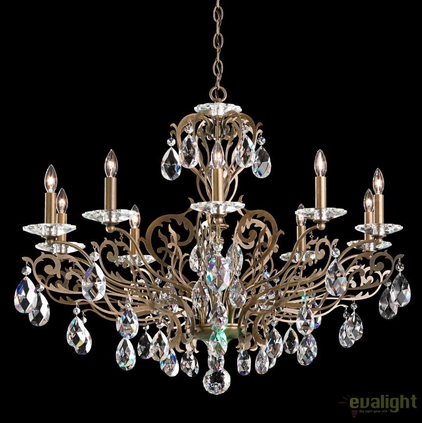 Candelabru design LUX cristal Spectra, Filigrae FE7010, Lustre Cristal Schonbek , Corpuri de iluminat, lustre, aplice, veioze, lampadare, plafoniere. Mobilier si decoratiuni, oglinzi, scaune, fotolii. Oferte speciale iluminat interior si exterior. Livram in toata tara.  a