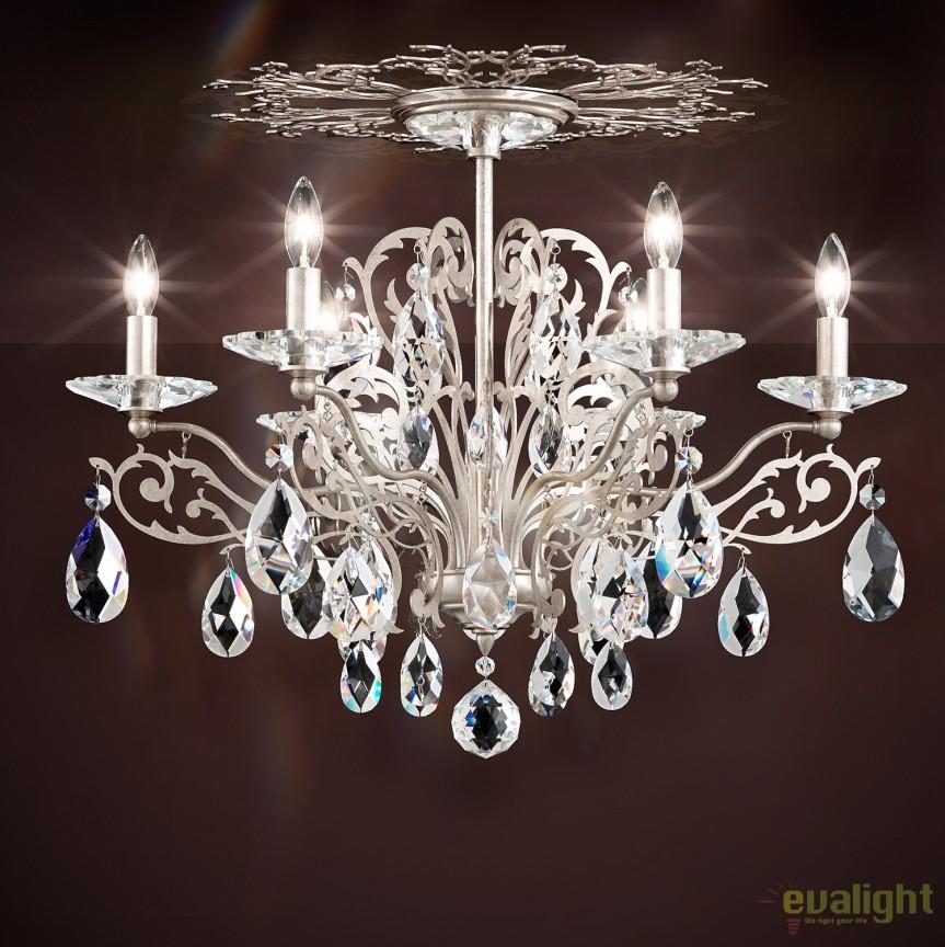 Plafoniera design LUX cristal Spectra, Filigrae FE7206, Plafoniere Cristal Schonbek , Corpuri de iluminat, lustre, aplice, veioze, lampadare, plafoniere. Mobilier si decoratiuni, oglinzi, scaune, fotolii. Oferte speciale iluminat interior si exterior. Livram in toata tara.  a