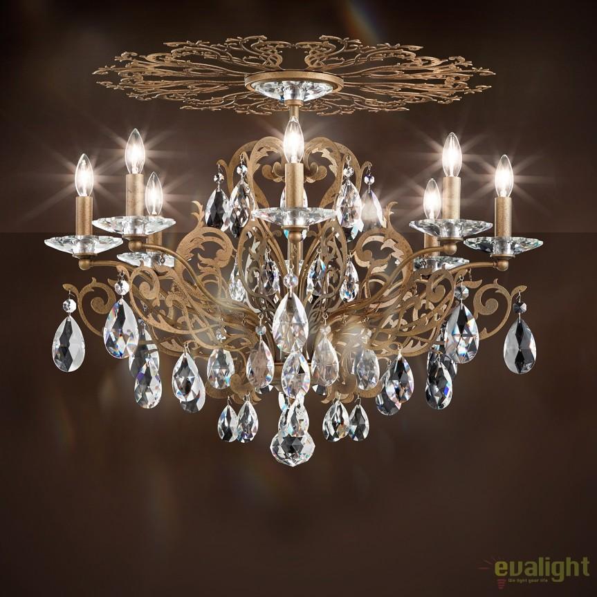 Plafoniera design LUX cristal Heritage, Filigrae FE7208, LUSTRE CRISTAL, Corpuri de iluminat, lustre, aplice, veioze, lampadare, plafoniere. Mobilier si decoratiuni, oglinzi, scaune, fotolii. Oferte speciale iluminat interior si exterior. Livram in toata tara.  a