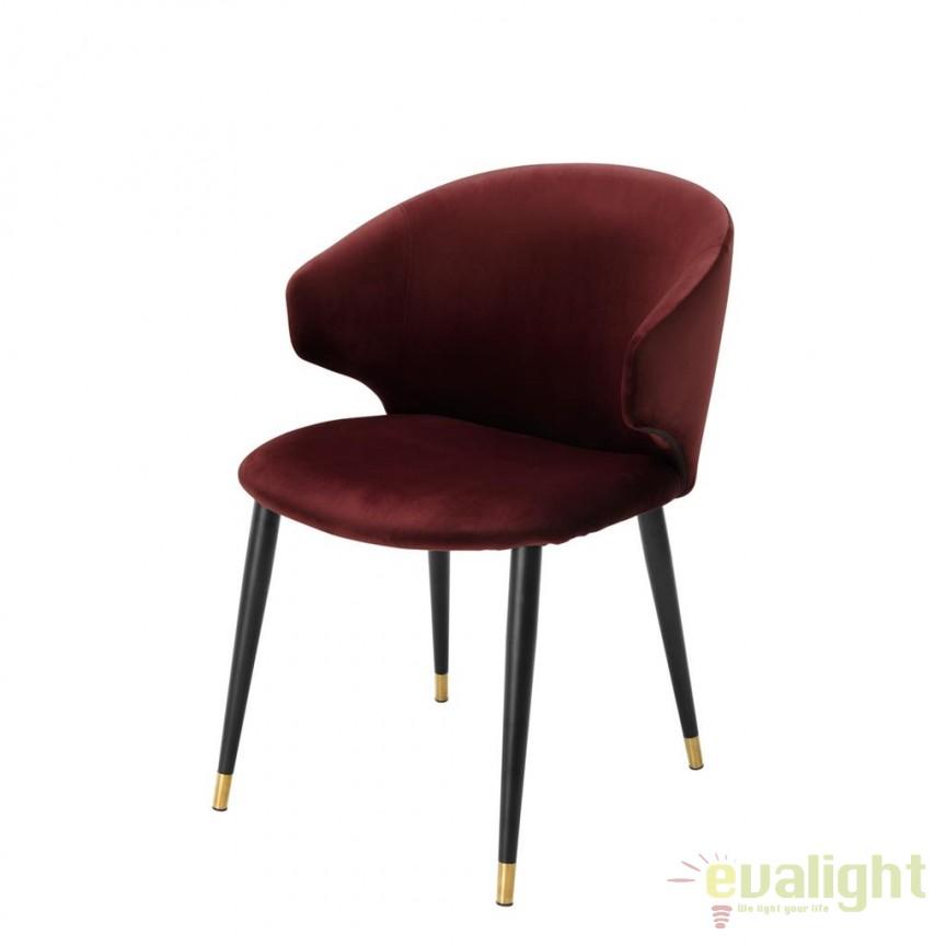 Scaun design elegant LUX Volante bordo 112776 HZ, Scaune dining , Corpuri de iluminat, lustre, aplice, veioze, lampadare, plafoniere. Mobilier si decoratiuni, oglinzi, scaune, fotolii. Oferte speciale iluminat interior si exterior. Livram in toata tara.  a