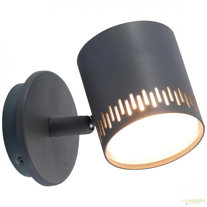 Aplica LED dimabila cu spot directionabil Cavi gri inchis G73110/22 BL, Spoturi - iluminat - cu 1 spot, Corpuri de iluminat, lustre, aplice, veioze, lampadare, plafoniere. Mobilier si decoratiuni, oglinzi, scaune, fotolii. Oferte speciale iluminat interior si exterior. Livram in toata tara.  a