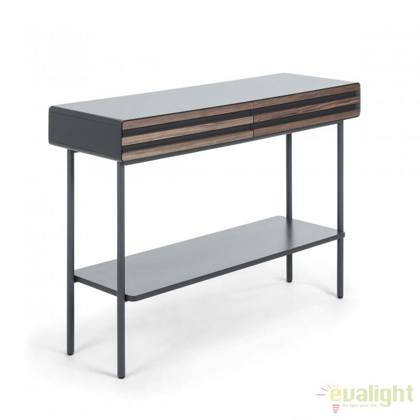 Consola eleganta din MDF si furnir de nuc, MAHON MH005L02 JG, Console - Birouri, Corpuri de iluminat, lustre, aplice, veioze, lampadare, plafoniere. Mobilier si decoratiuni, oglinzi, scaune, fotolii. Oferte speciale iluminat interior si exterior. Livram in toata tara.  a