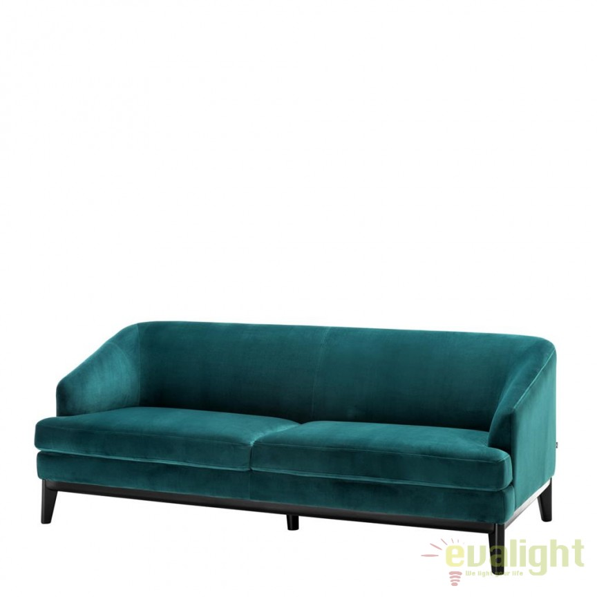 Canapea design elegant LUX Monterey verde marin 112709 HZ, Canapele - Coltare, Corpuri de iluminat, lustre, aplice, veioze, lampadare, plafoniere. Mobilier si decoratiuni, oglinzi, scaune, fotolii. Oferte speciale iluminat interior si exterior. Livram in toata tara.  a