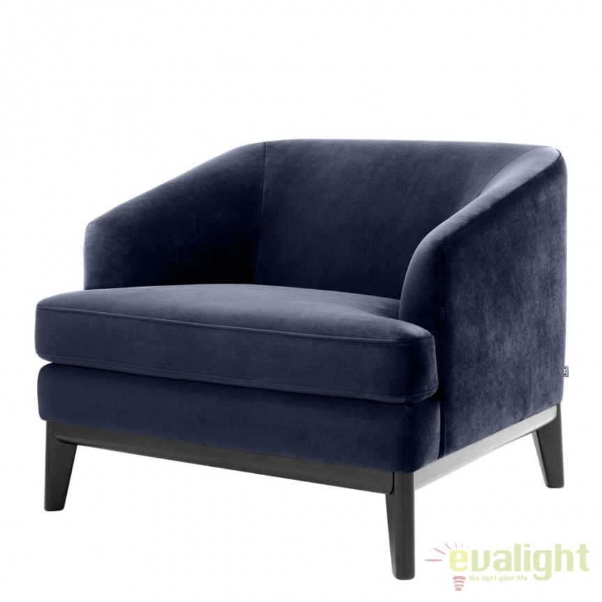 Fotoliu design elegant LUX Monterey albastru inchis 112707 HZ, Mobila si Decoratiuni,  a