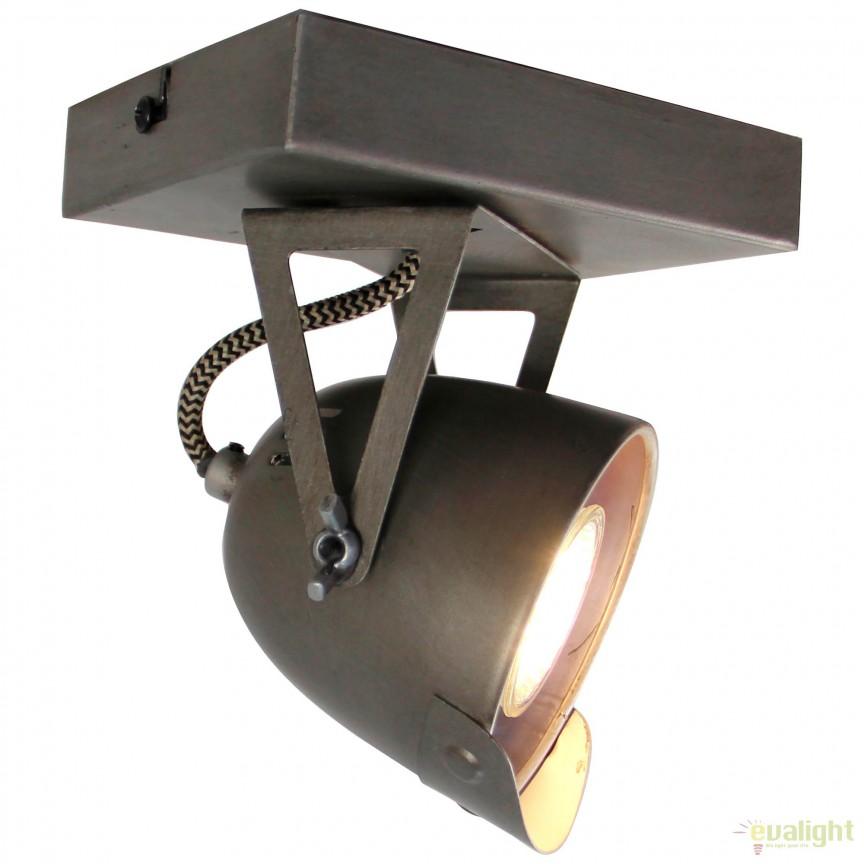 Aplica perete / tavan design industrial Ka 78510/84 BL, Spoturi - iluminat - cu 1 spot, Corpuri de iluminat, lustre, aplice, veioze, lampadare, plafoniere. Mobilier si decoratiuni, oglinzi, scaune, fotolii. Oferte speciale iluminat interior si exterior. Livram in toata tara.  a