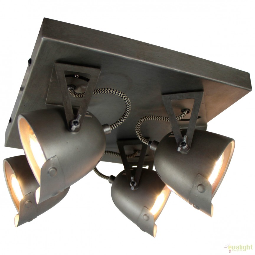 Plafoniera directionabila design Industrial Ka 4 78535/84 BL, Plafoniere, Spots, Corpuri de iluminat, lustre, aplice, veioze, lampadare, plafoniere. Mobilier si decoratiuni, oglinzi, scaune, fotolii. Oferte speciale iluminat interior si exterior. Livram in toata tara.  a