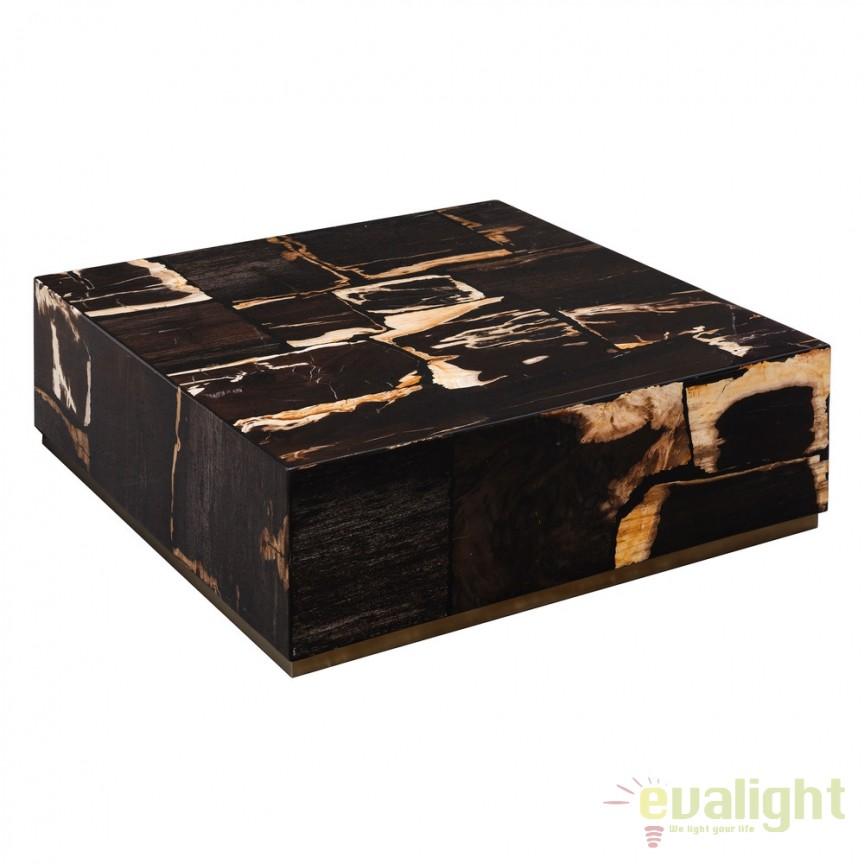 Masuta din lemn fosilizat design modern Katriona DZ-105533, Masute de cafea, Corpuri de iluminat, lustre, aplice, veioze, lampadare, plafoniere. Mobilier si decoratiuni, oglinzi, scaune, fotolii. Oferte speciale iluminat interior si exterior. Livram in toata tara.  a