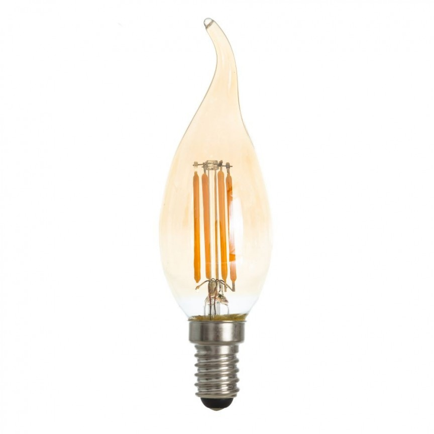 Set de 4 becuri LED E14 Edison lumanare 100330 DZ, Becuri E14, Corpuri de iluminat, lustre, aplice, veioze, lampadare, plafoniere. Mobilier si decoratiuni, oglinzi, scaune, fotolii. Oferte speciale iluminat interior si exterior. Livram in toata tara.  a
