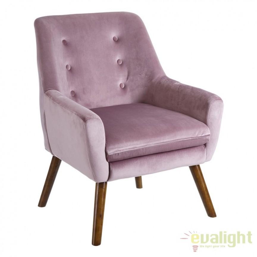 Fotoliu elegant design nordic Scandinav, roz SX-105581, Mobila si Decoratiuni,  a