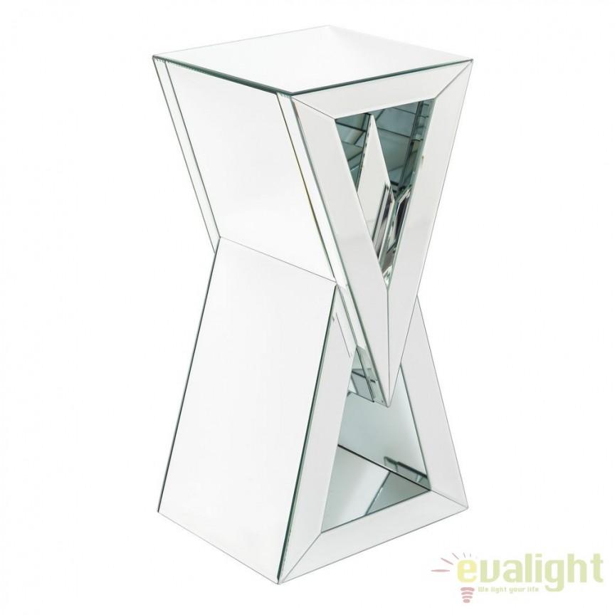 Masuta eleganta placata cu oglinda Glam, 70,5cm SX-106484, Masute de cafea, Corpuri de iluminat, lustre, aplice, veioze, lampadare, plafoniere. Mobilier si decoratiuni, oglinzi, scaune, fotolii. Oferte speciale iluminat interior si exterior. Livram in toata tara.  a
