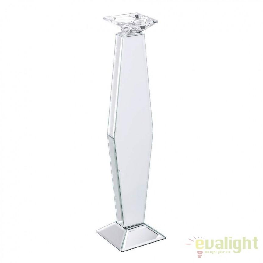 Suport pentru lumanare placat cu oglinda Glam, 54,5cm SX-106491, Parfumuri de camera- Idei cadouri- Obiecte decorative, Corpuri de iluminat, lustre, aplice, veioze, lampadare, plafoniere. Mobilier si decoratiuni, oglinzi, scaune, fotolii. Oferte speciale iluminat interior si exterior. Livram in toata tara.  a