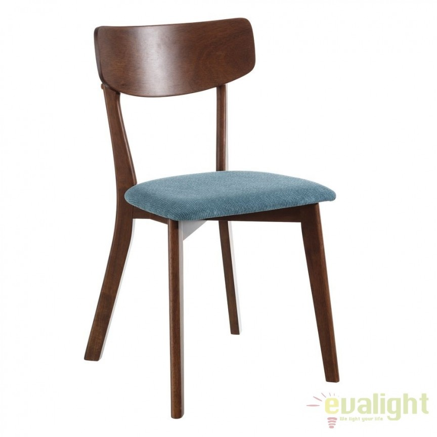 Set de 2 scaune design nordic Madera, verde turcoaz SX-106594, Seturi scaune dining, scaune HoReCa, Corpuri de iluminat, lustre, aplice, veioze, lampadare, plafoniere. Mobilier si decoratiuni, oglinzi, scaune, fotolii. Oferte speciale iluminat interior si exterior. Livram in toata tara.  a