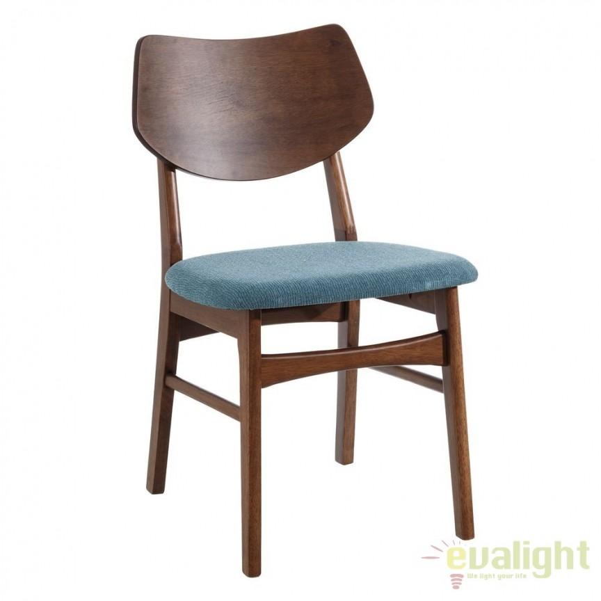 Set de 2 scaune design nordic Madera, verde turcoaz SX-106597, Seturi scaune dining, scaune HoReCa, Corpuri de iluminat, lustre, aplice, veioze, lampadare, plafoniere. Mobilier si decoratiuni, oglinzi, scaune, fotolii. Oferte speciale iluminat interior si exterior. Livram in toata tara.  a