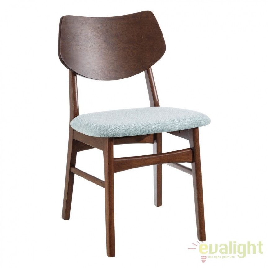 Set de 2 scaune design nordic Madera, albastru deschis SX-106595, Seturi scaune dining, scaune HoReCa, Corpuri de iluminat, lustre, aplice, veioze, lampadare, plafoniere. Mobilier si decoratiuni, oglinzi, scaune, fotolii. Oferte speciale iluminat interior si exterior. Livram in toata tara.  a