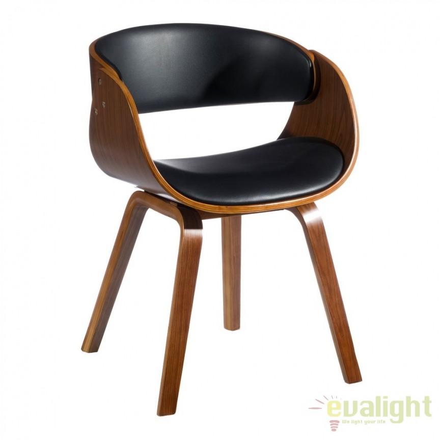 Scaun design deosebit MODERNO, maro/ negru SX-104847, Scaune dining , Corpuri de iluminat, lustre, aplice, veioze, lampadare, plafoniere. Mobilier si decoratiuni, oglinzi, scaune, fotolii. Oferte speciale iluminat interior si exterior. Livram in toata tara.  a