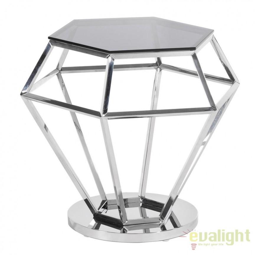 Masuta design elegant PLATA Diamante S SX-105575, Masute de cafea, Corpuri de iluminat, lustre, aplice, veioze, lampadare, plafoniere. Mobilier si decoratiuni, oglinzi, scaune, fotolii. Oferte speciale iluminat interior si exterior. Livram in toata tara.  a