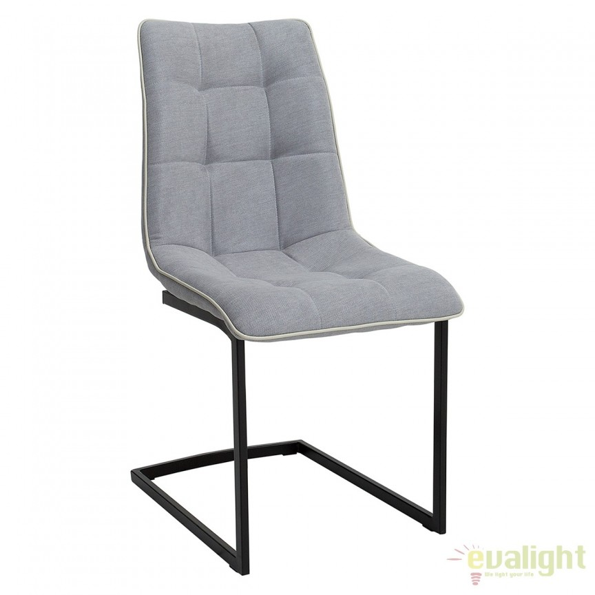 Set de 4 scaune elegante Miami, gri deschis vintage A-38500 VC, Seturi scaune dining, scaune HoReCa, Corpuri de iluminat, lustre, aplice, veioze, lampadare, plafoniere. Mobilier si decoratiuni, oglinzi, scaune, fotolii. Oferte speciale iluminat interior si exterior. Livram in toata tara.  a