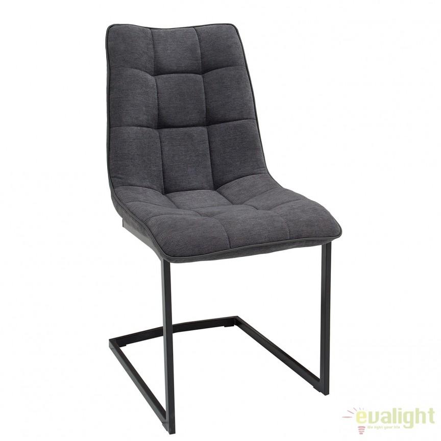 Set de 4 scaune elegante Miami, gri inchis vintage A-38501 VC, Seturi scaune dining, scaune HoReCa, Corpuri de iluminat, lustre, aplice, veioze, lampadare, plafoniere. Mobilier si decoratiuni, oglinzi, scaune, fotolii. Oferte speciale iluminat interior si exterior. Livram in toata tara.  a
