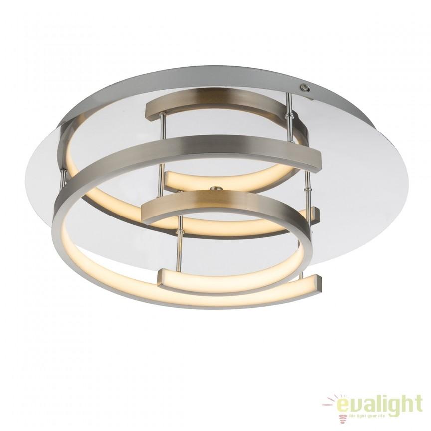 Plafoniera LED moderna TITUS 26W 67092-26 GL, ILUMINAT INTERIOR LED , Corpuri de iluminat, lustre, aplice, veioze, lampadare, plafoniere. Mobilier si decoratiuni, oglinzi, scaune, fotolii. Oferte speciale iluminat interior si exterior. Livram in toata tara.  a