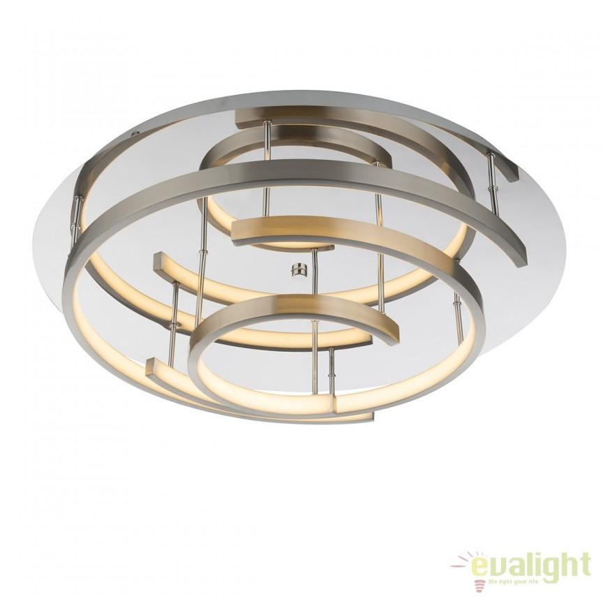 Plafoniera LED moderna TITUS 47W 67092-47 GL, ILUMINAT INTERIOR LED , Corpuri de iluminat, lustre, aplice, veioze, lampadare, plafoniere. Mobilier si decoratiuni, oglinzi, scaune, fotolii. Oferte speciale iluminat interior si exterior. Livram in toata tara.  a