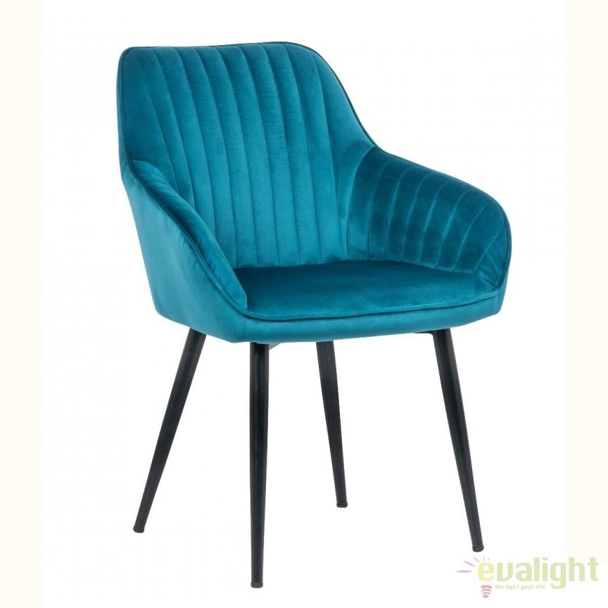 Set de 2 scaune elegante, cu brate si tapiterie din catifea, Turin turcoaz A-38788 VC, Seturi scaune dining, scaune HoReCa, Corpuri de iluminat, lustre, aplice, veioze, lampadare, plafoniere. Mobilier si decoratiuni, oglinzi, scaune, fotolii. Oferte speciale iluminat interior si exterior. Livram in toata tara.  a