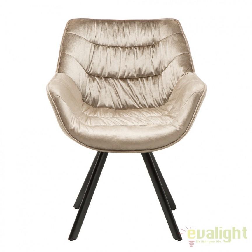 Set de 2 scaune cu design ergonomic ideale pentru sufragerii, sali de conferinta sau birouri, Dutch Comfort catifea greige A-38596 VC, Seturi scaune dining, scaune HoReCa, Corpuri de iluminat, lustre, aplice, veioze, lampadare, plafoniere. Mobilier si decoratiuni, oglinzi, scaune, fotolii. Oferte speciale iluminat interior si exterior. Livram in toata tara.  a