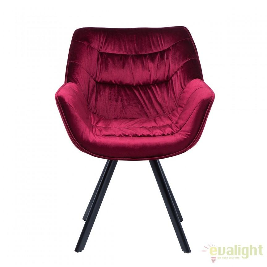 Set de 2 scaune cu design ergonomic ideale pentru sufragerii, sali de conferinta sau birouri, Dutch Comfort catifea rosie A-38598 VC, Seturi scaune dining, scaune HoReCa, Corpuri de iluminat, lustre, aplice, veioze, lampadare, plafoniere. Mobilier si decoratiuni, oglinzi, scaune, fotolii. Oferte speciale iluminat interior si exterior. Livram in toata tara.  a