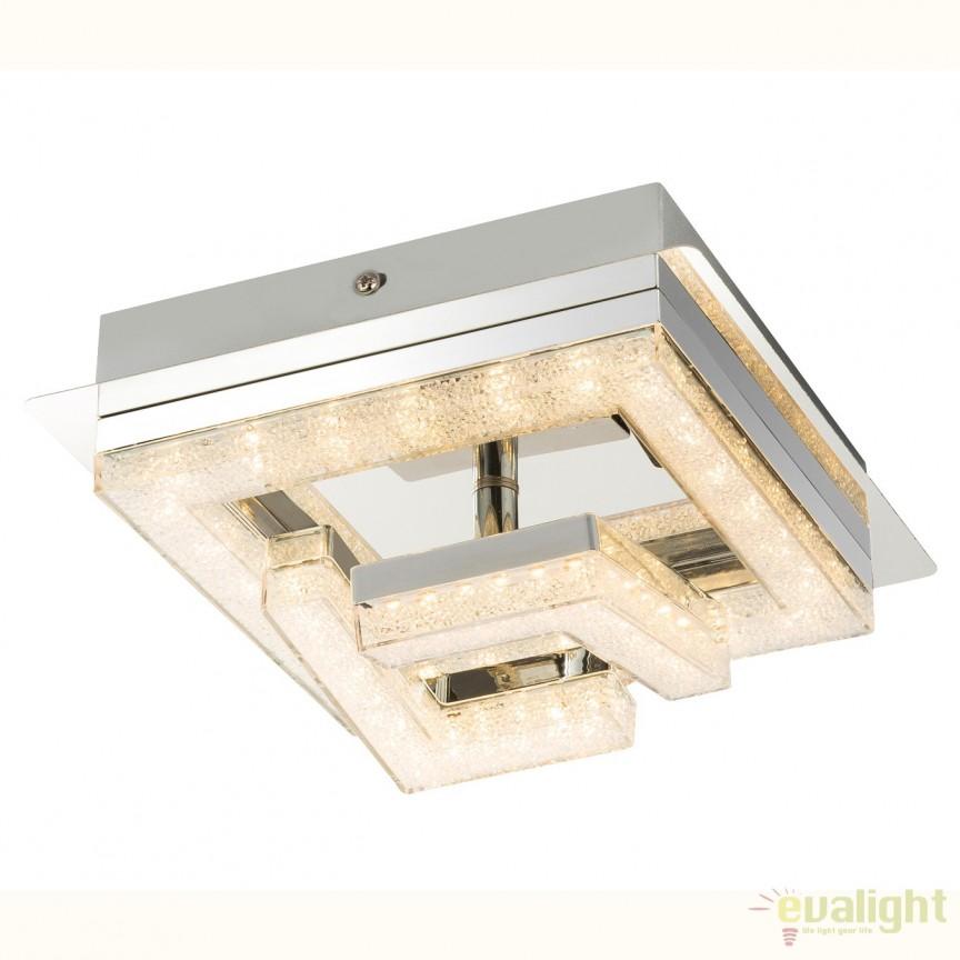 Plafoniera LED cu cristale acrilice RENLY, 19x19cm 49003-9 GL, ILUMINAT INTERIOR LED , Corpuri de iluminat, lustre, aplice, veioze, lampadare, plafoniere. Mobilier si decoratiuni, oglinzi, scaune, fotolii. Oferte speciale iluminat interior si exterior. Livram in toata tara.  a