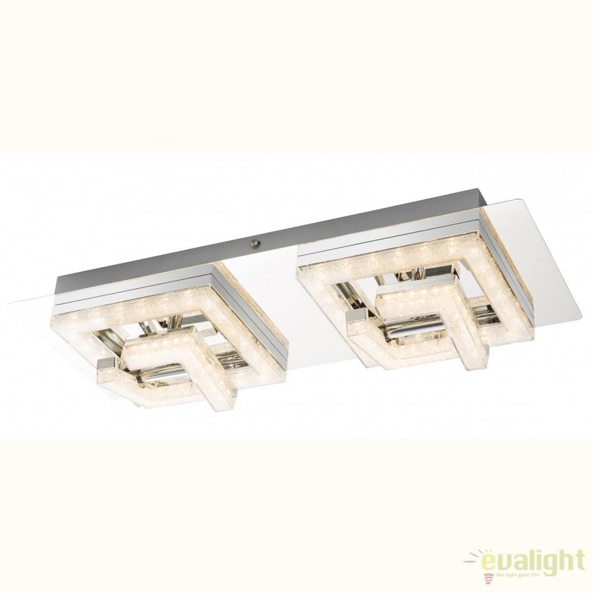 Plafoniera LED cu cristale acrilice RENLY, 48x19cm 49003-18 GL, ILUMINAT INTERIOR LED , Corpuri de iluminat, lustre, aplice, veioze, lampadare, plafoniere. Mobilier si decoratiuni, oglinzi, scaune, fotolii. Oferte speciale iluminat interior si exterior. Livram in toata tara.  a