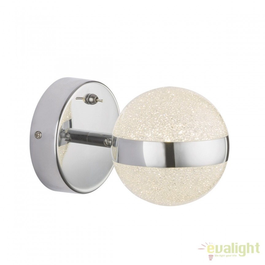 Aplica LED perete design elegant TOBIAS 56007-1 GL, ILUMINAT INTERIOR LED , Corpuri de iluminat, lustre, aplice, veioze, lampadare, plafoniere. Mobilier si decoratiuni, oglinzi, scaune, fotolii. Oferte speciale iluminat interior si exterior. Livram in toata tara.  a