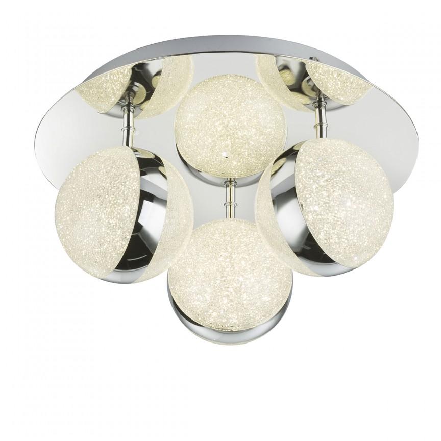 Plafoniera LED design elegant TOBIAS 3L 56007-3 GL, Magazin, Corpuri de iluminat, lustre, aplice, veioze, lampadare, plafoniere. Mobilier si decoratiuni, oglinzi, scaune, fotolii. Oferte speciale iluminat interior si exterior. Livram in toata tara.  a