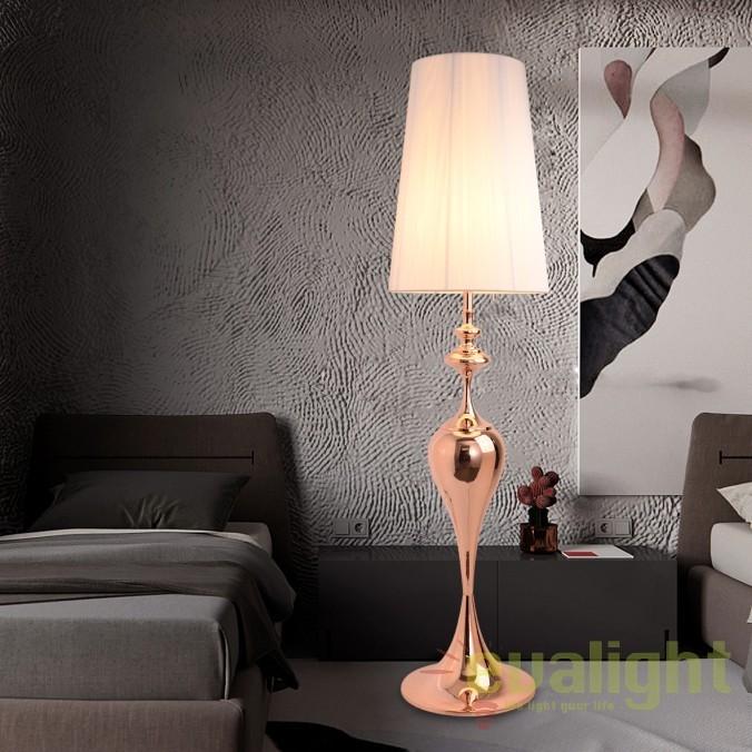 Lampadar elegant Lucie rosegold A-38970 VC , Magazin, Corpuri de iluminat, lustre, aplice, veioze, lampadare, plafoniere. Mobilier si decoratiuni, oglinzi, scaune, fotolii. Oferte speciale iluminat interior si exterior. Livram in toata tara.  a