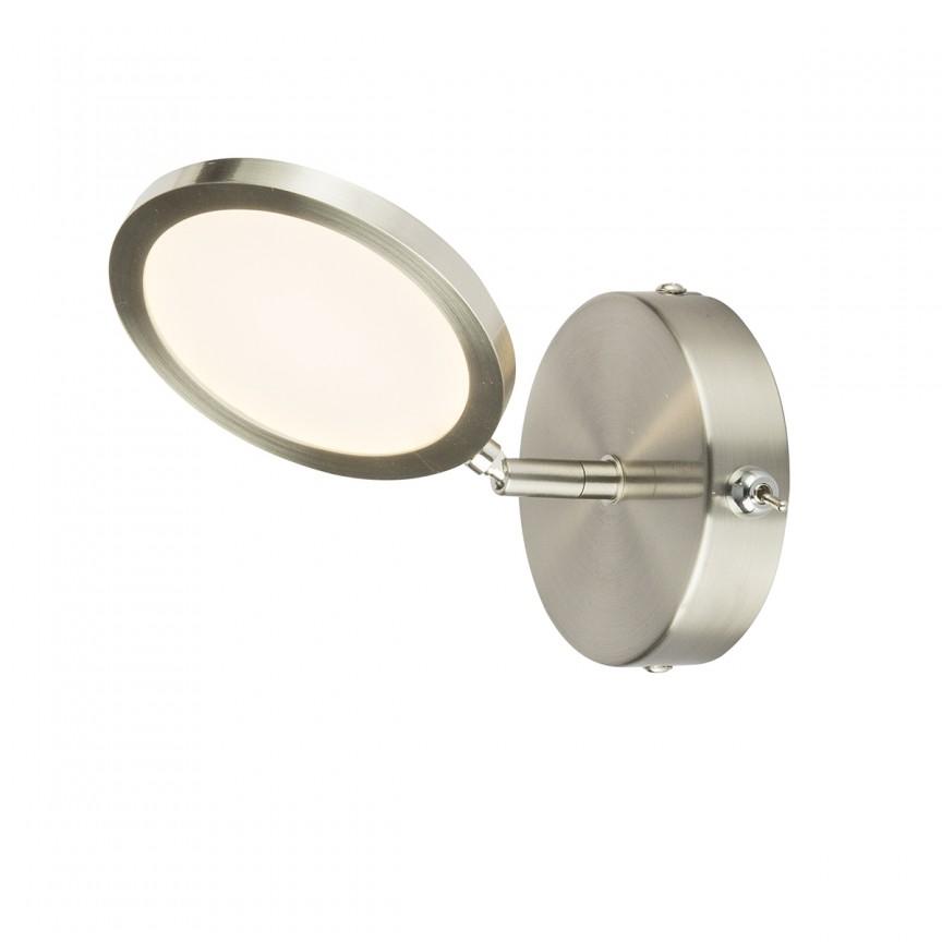 Aplica LED moderna cu spot directionabil CORSUS 56005 GL, Spoturi - iluminat - cu 1 spot, Corpuri de iluminat, lustre, aplice, veioze, lampadare, plafoniere. Mobilier si decoratiuni, oglinzi, scaune, fotolii. Oferte speciale iluminat interior si exterior. Livram in toata tara.  a
