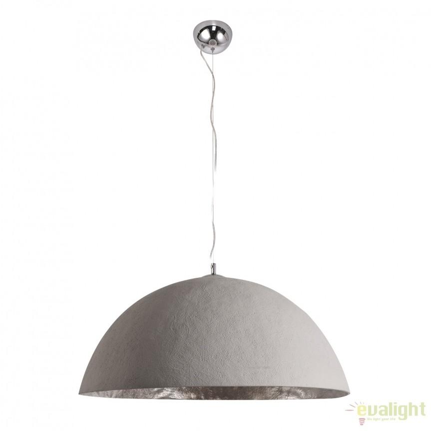 Lustra din fibra de sticla Glow 50cm, beton optic A-38865 VC, Magazin, Corpuri de iluminat, lustre, aplice, veioze, lampadare, plafoniere. Mobilier si decoratiuni, oglinzi, scaune, fotolii. Oferte speciale iluminat interior si exterior. Livram in toata tara.  a