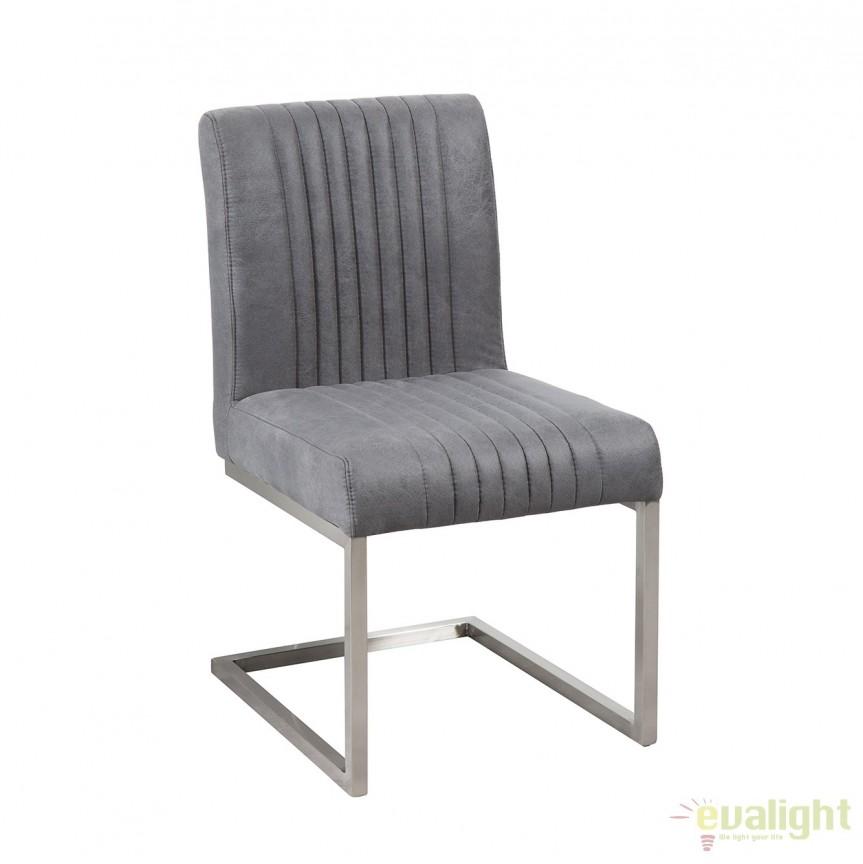 Set de 2 scaune cu tapiterie din microfibra Big Aston gri vintage A-38103 VC, Magazin, Corpuri de iluminat, lustre, aplice, veioze, lampadare, plafoniere. Mobilier si decoratiuni, oglinzi, scaune, fotolii. Oferte speciale iluminat interior si exterior. Livram in toata tara.  a