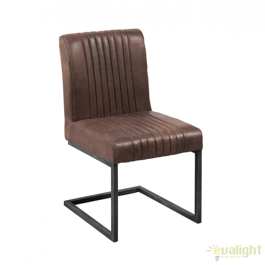 Set de 2 scaune cu tapiterie din microfibra Big Aston maro vintage A-38105 VC, Magazin, Corpuri de iluminat, lustre, aplice, veioze, lampadare, plafoniere. Mobilier si decoratiuni, oglinzi, scaune, fotolii. Oferte speciale iluminat interior si exterior. Livram in toata tara.  a