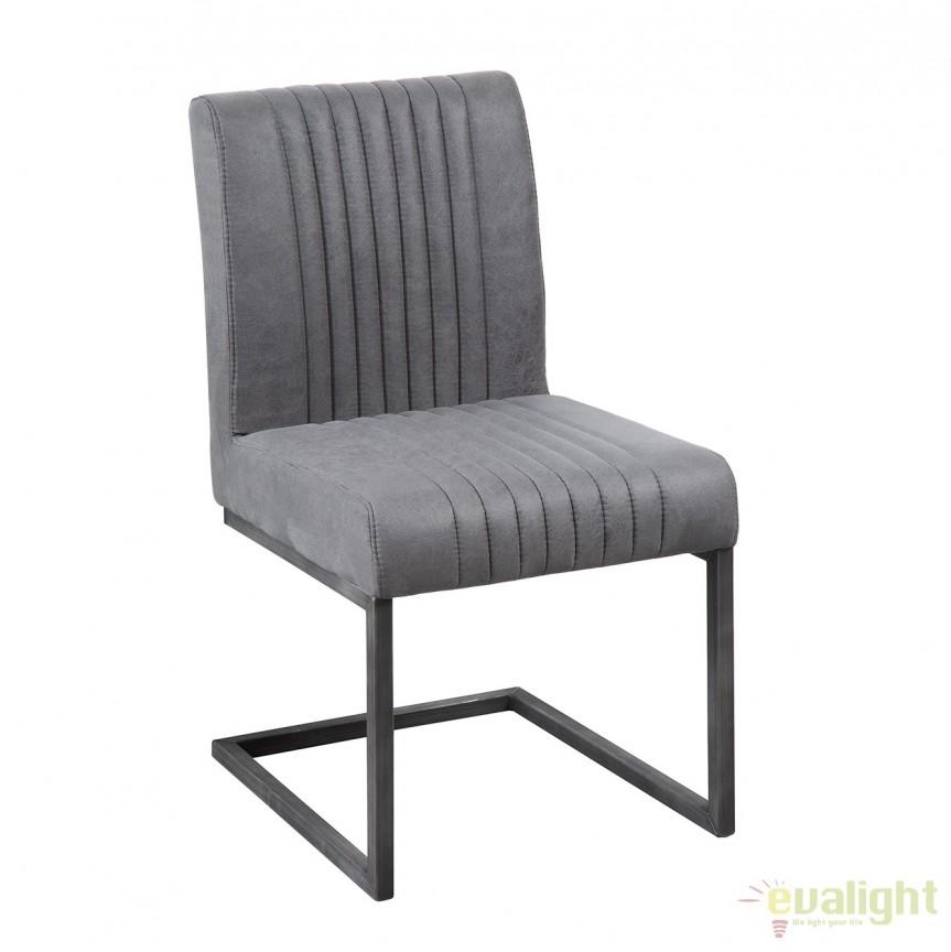Set de 2 scaune cu tapiterie din microfibra Big Aston gri vintage A-38106 VC, Magazin, Corpuri de iluminat, lustre, aplice, veioze, lampadare, plafoniere. Mobilier si decoratiuni, oglinzi, scaune, fotolii. Oferte speciale iluminat interior si exterior. Livram in toata tara.  a