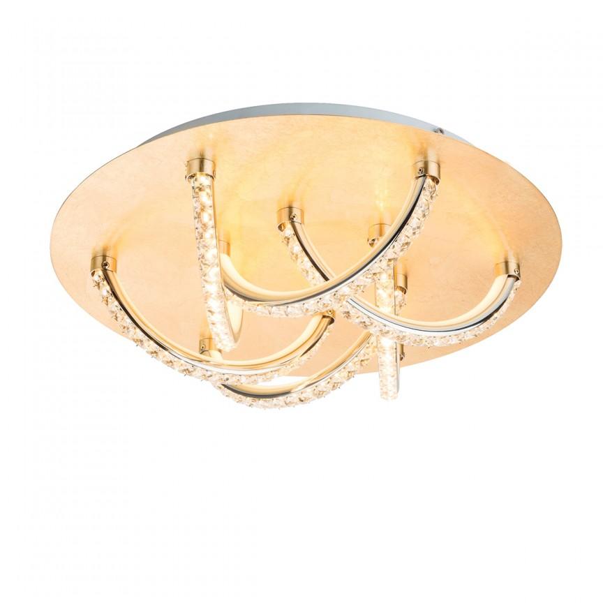 Lustra LED eleganta TILO aurie 36W 41911-36G GL, Magazin, Corpuri de iluminat, lustre, aplice, veioze, lampadare, plafoniere. Mobilier si decoratiuni, oglinzi, scaune, fotolii. Oferte speciale iluminat interior si exterior. Livram in toata tara.  a