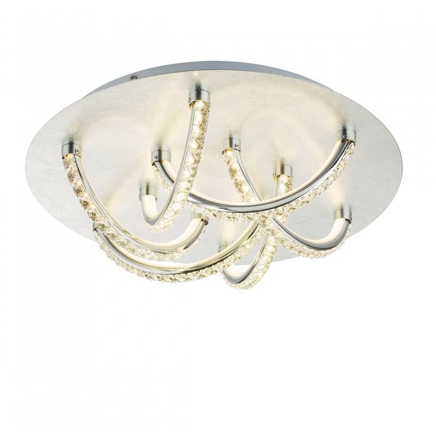 Lustra LED eleganta TILO argintie 36W 41911-36S GL, Magazin, Corpuri de iluminat, lustre, aplice, veioze, lampadare, plafoniere. Mobilier si decoratiuni, oglinzi, scaune, fotolii. Oferte speciale iluminat interior si exterior. Livram in toata tara.  a