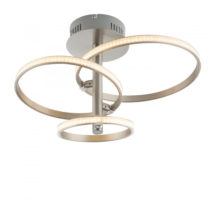 Lustra LED moderna WAVE nickel 67822-24N GL, Magazin, Corpuri de iluminat, lustre, aplice, veioze, lampadare, plafoniere. Mobilier si decoratiuni, oglinzi, scaune, fotolii. Oferte speciale iluminat interior si exterior. Livram in toata tara.  a