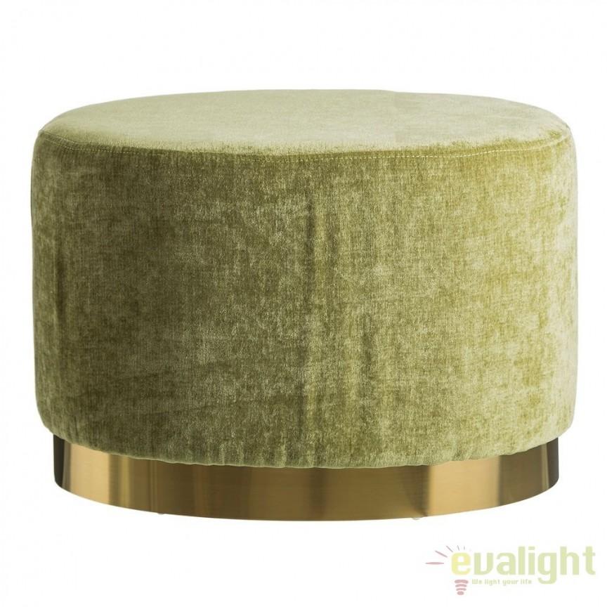 Taburete elegant Tomson, catifea verde SX-105642, Tabureti - Banci, Corpuri de iluminat, lustre, aplice, veioze, lampadare, plafoniere. Mobilier si decoratiuni, oglinzi, scaune, fotolii. Oferte speciale iluminat interior si exterior. Livram in toata tara.  a