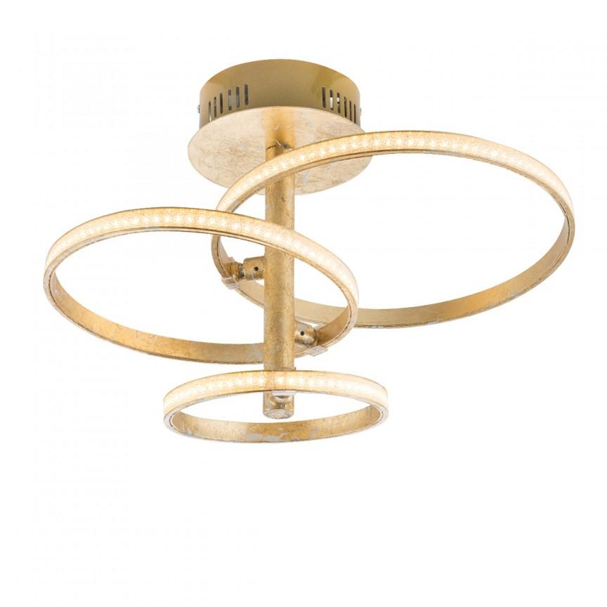 Lustra LED moderna WAVE aurie 67822-24G GL, ILUMINAT INTERIOR LED , Corpuri de iluminat, lustre, aplice, veioze, lampadare, plafoniere. Mobilier si decoratiuni, oglinzi, scaune, fotolii. Oferte speciale iluminat interior si exterior. Livram in toata tara.  a
