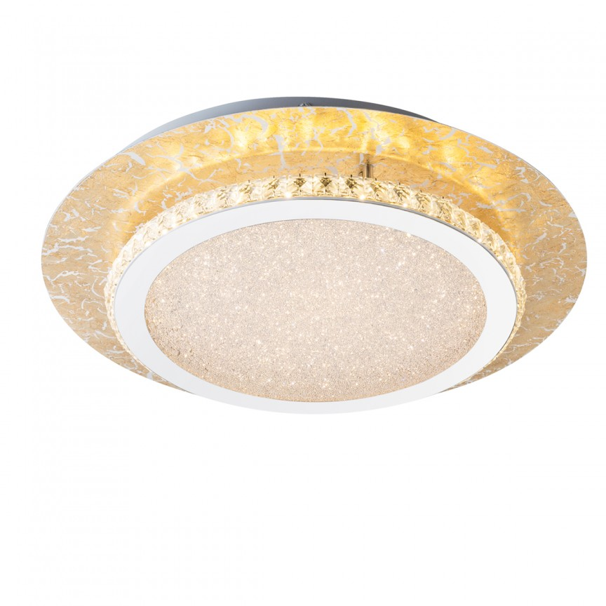 Plafoniera LED eleganta TILO aurie 18W 41908-18 GL, ILUMINAT INTERIOR LED , Corpuri de iluminat, lustre, aplice, veioze, lampadare, plafoniere. Mobilier si decoratiuni, oglinzi, scaune, fotolii. Oferte speciale iluminat interior si exterior. Livram in toata tara.  a