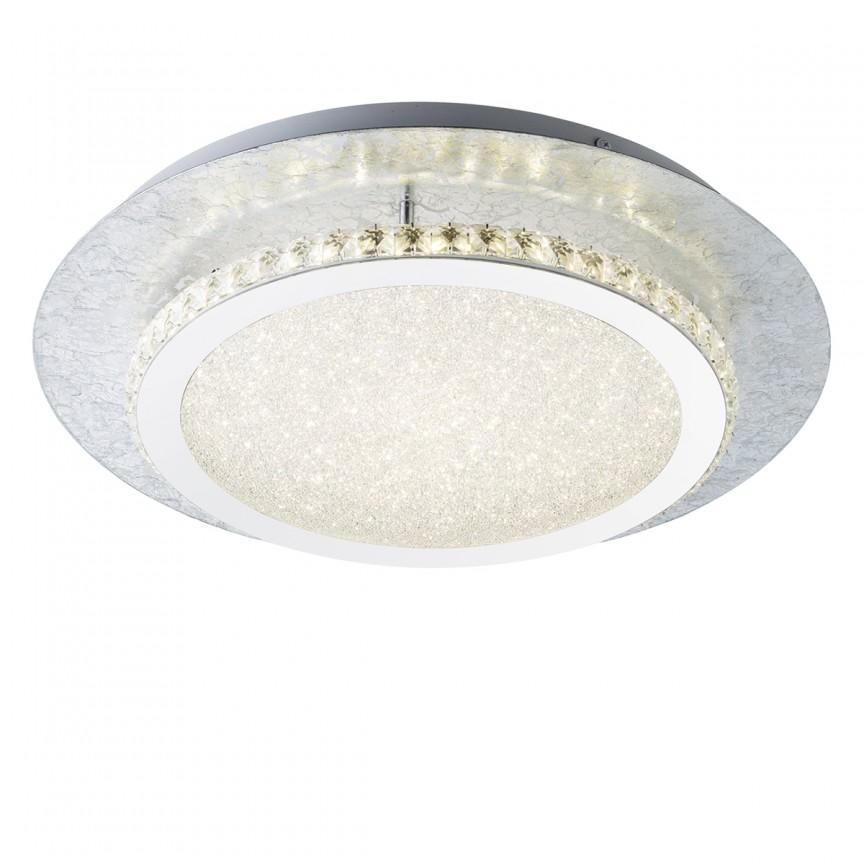 Plafoniera LED eleganta TILO argintie 18W 41909-18 GL, ILUMINAT INTERIOR LED , Corpuri de iluminat, lustre, aplice, veioze, lampadare, plafoniere. Mobilier si decoratiuni, oglinzi, scaune, fotolii. Oferte speciale iluminat interior si exterior. Livram in toata tara.  a
