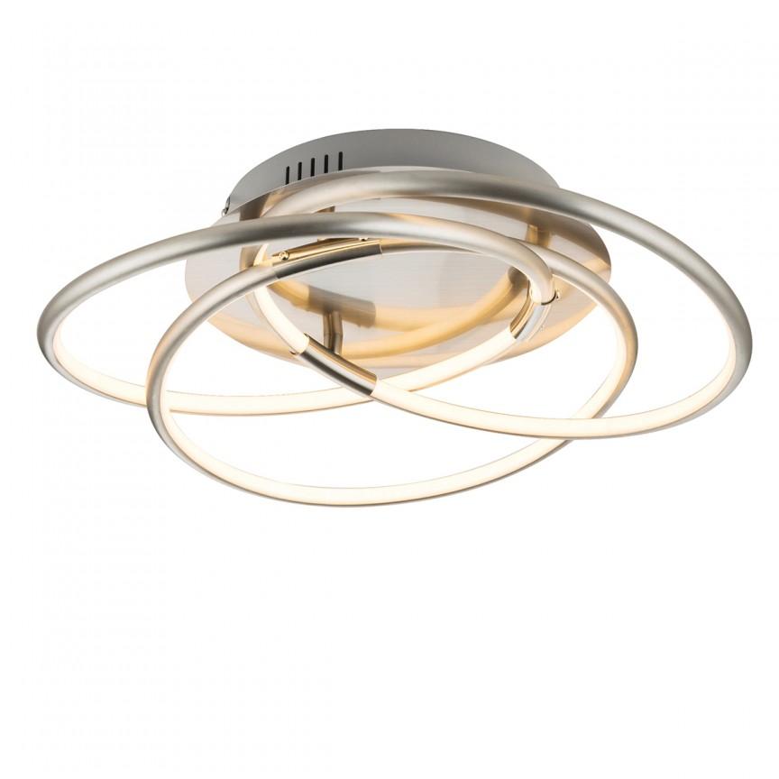 Plafoniera LED design modern BARNA 30W 67828-30N GL, ILUMINAT INTERIOR LED , Corpuri de iluminat, lustre, aplice, veioze, lampadare, plafoniere. Mobilier si decoratiuni, oglinzi, scaune, fotolii. Oferte speciale iluminat interior si exterior. Livram in toata tara.  a