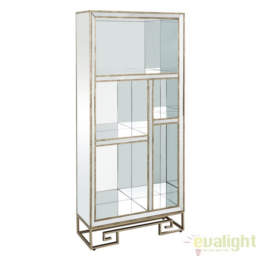 Raft design LUX placat cu oglinda, Tiffany DZ-106501, Vitrine - Rafturi, Corpuri de iluminat, lustre, aplice, veioze, lampadare, plafoniere. Mobilier si decoratiuni, oglinzi, scaune, fotolii. Oferte speciale iluminat interior si exterior. Livram in toata tara.  a