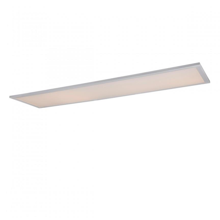 Plafoniera LED moderna Rosi, 120x30cm 41604D5 GL, Corpuri de iluminat LED pentru interior⭐ moderne: Lustre LED, Aplice LED, Plafoniere LED, Candelabre LED, Spoturi LED, Veioze LED, Lampadare LED.✅DeSiGn decorativ 2021!❤️Promotii lampi LED❗ Magazin online ➽ www.evalight.ro. Alege oferte la corpuri de iluminat cu LED, ieftine de calitate deosebita la cel mai bun pret. a